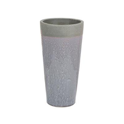 Graue Keramik vase