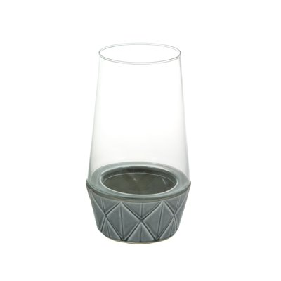 Ceramic and glass candleholder