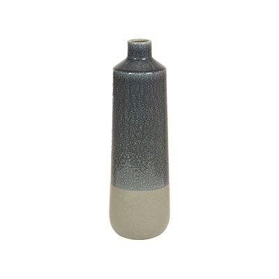 Jarrón de cerámica gris