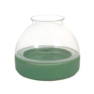Keramik und Glas Kerzenhalter