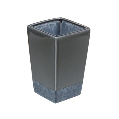 Keramikvase grau