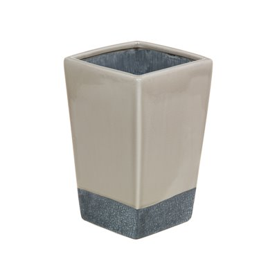 Ceramic vase beige and grey