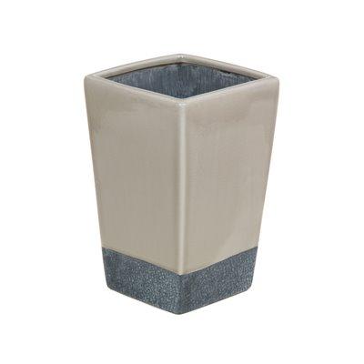 Jarrón cerámica beige y gris