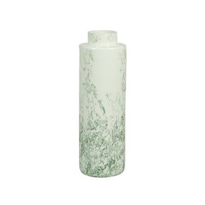 White ceramic vase grey