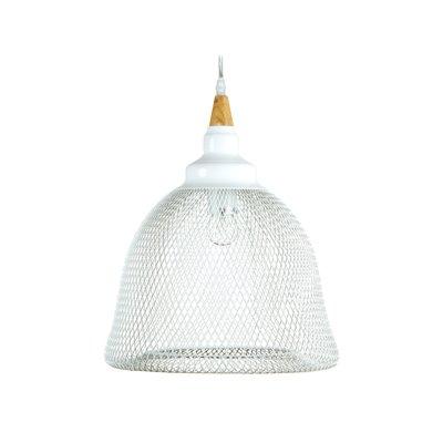 Lámpara techo Malla blanca