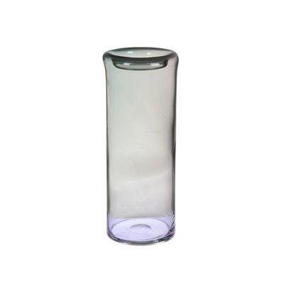 Jarrón de cristal gris