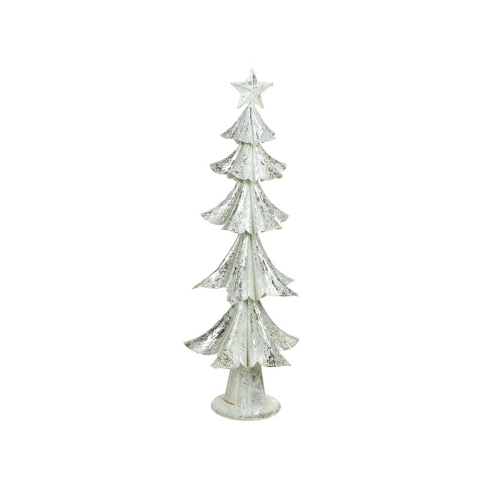 Albero Di Natale Bianco.Albero Di Natale Argento Bianco