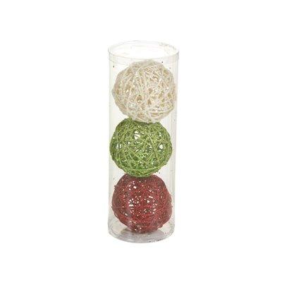 3 bolas de Navidad tres colores