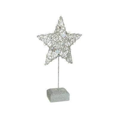 Figura estrella Navidad plata