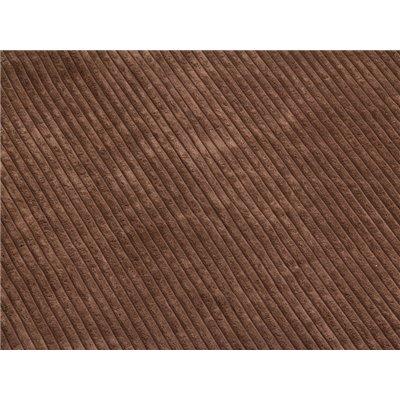 Manta de pana polar cor marrón
