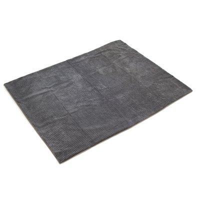 Corduroy fleece blanket, grey