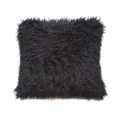 Cushion with black colored hair