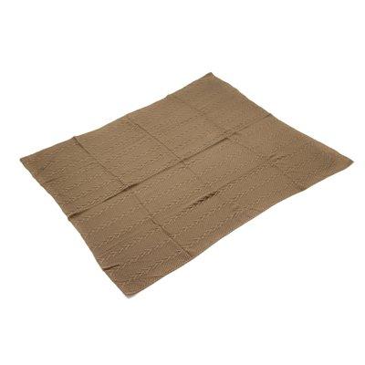 Couverture tricotée brun