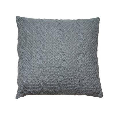 Coussin tricoté gris