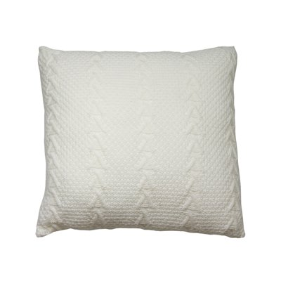 White knitted cushion