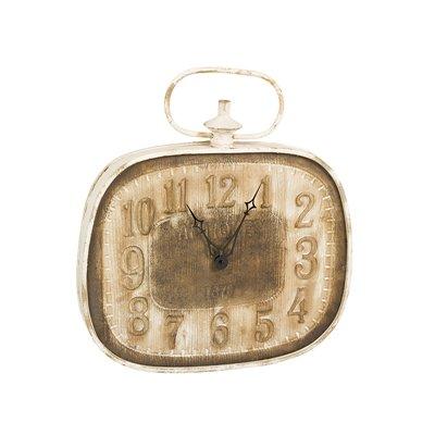 Reloj de pared blanco y marrón