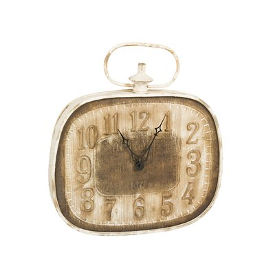 Wall clock, antique brown white