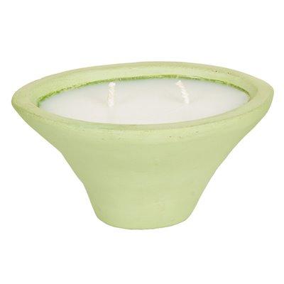 Porta velas terracota musgo