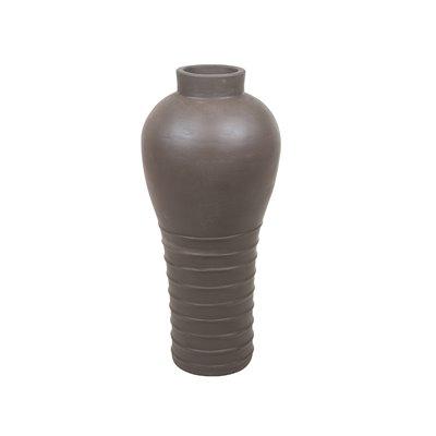 Brown terracotta vase