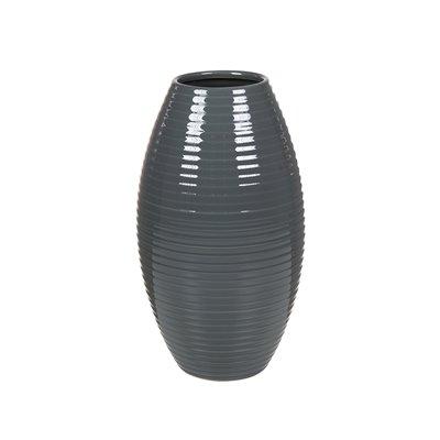 Jarrón cerámica gris