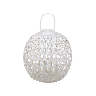 White Mahe candlestick basket