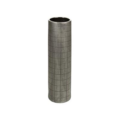 Jarrón plata antigua 16x16x59 cm