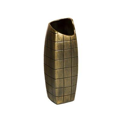 Jarrón oro antiguo 11x11x33 cm