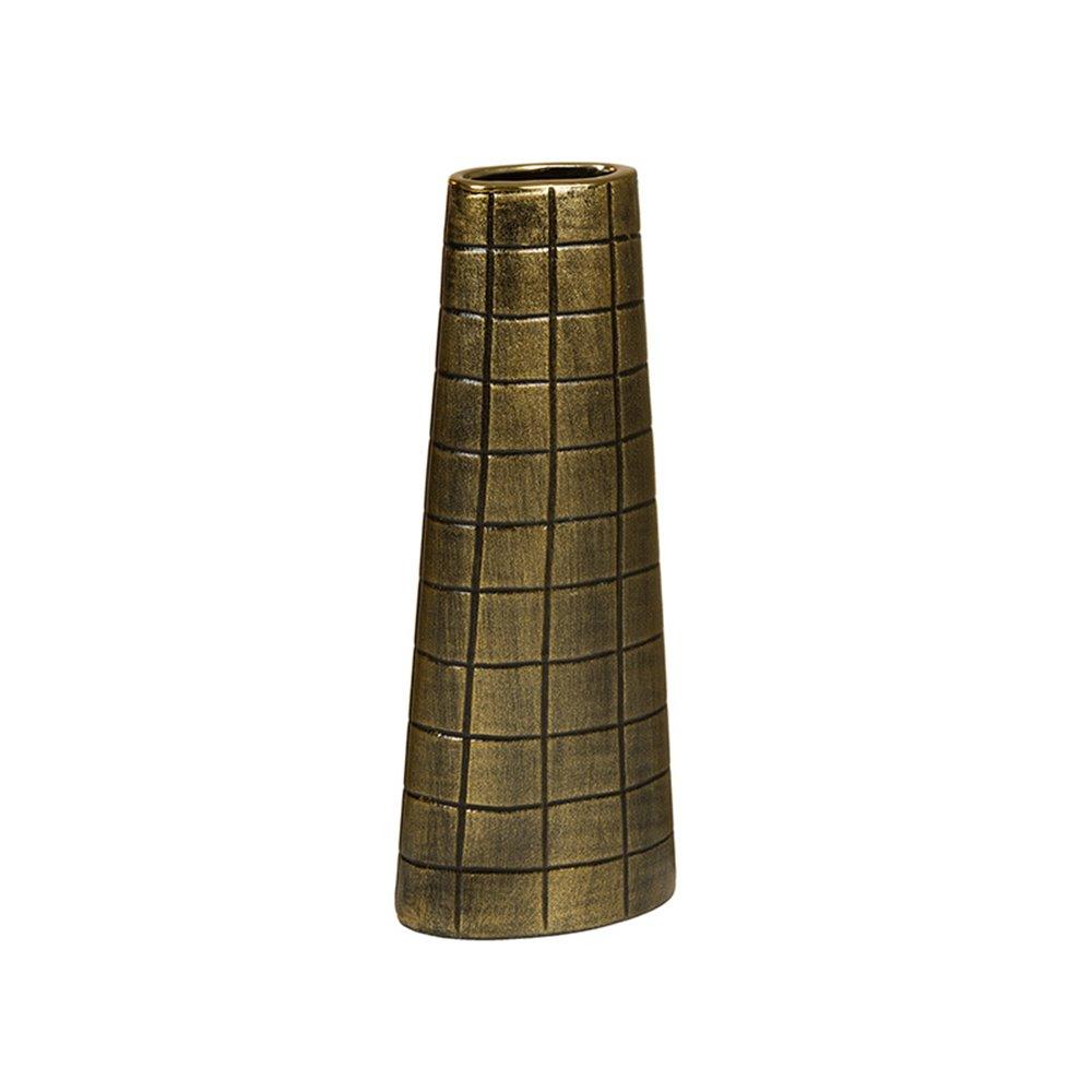 Jarrón oro antiguo 14x7x37 cm