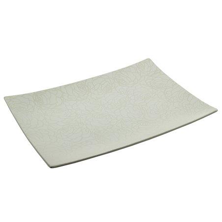 Centro de mesa rose blanco 49x36x6 cm