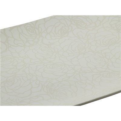 Centro de mesa rose branco 49x36x6 cm