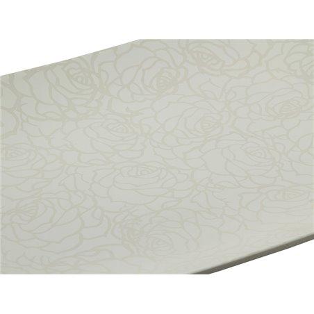 Centre de table rose blanc 49 x 36 x 6 cm