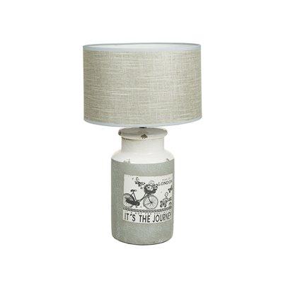 Keramik-Lampe Fahrrad