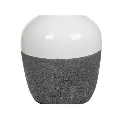 Ceramic lamp white / grey