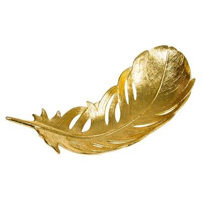 Centro de mesa hoja dorado