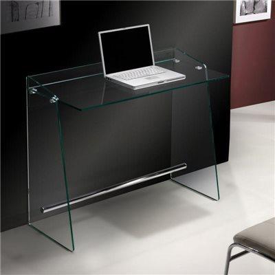 Bureau en verre trempé 100 cm