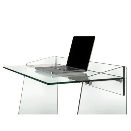 Tempered glass desk 100 cm