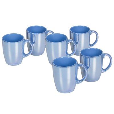 Juego de 6 jarras Lustre azul claro