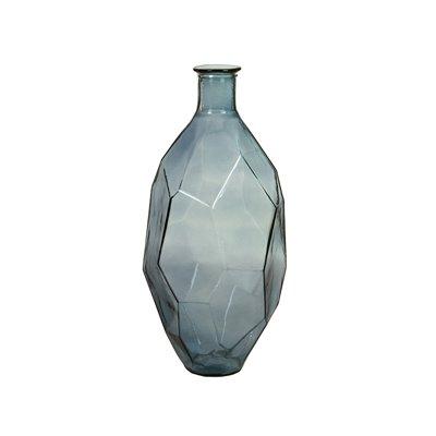 Blue Origami Vase