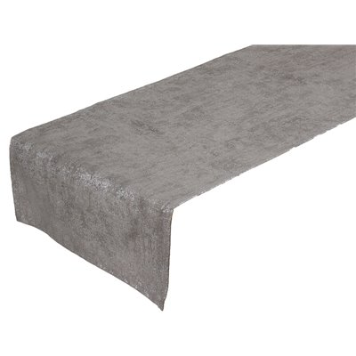 Gray marble table runner