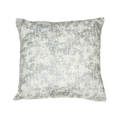 Silver marble cushion