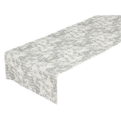 Silber Marmor Tischläufer