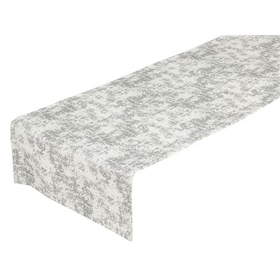 Silver marble table runner