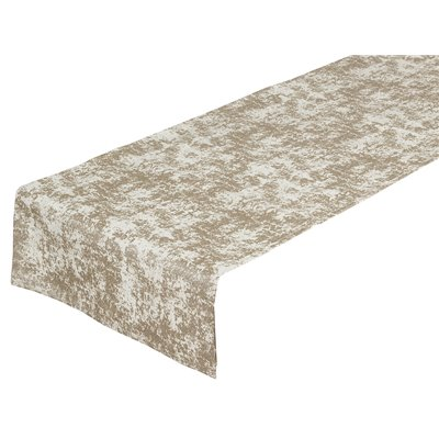 Champagne marble table runner