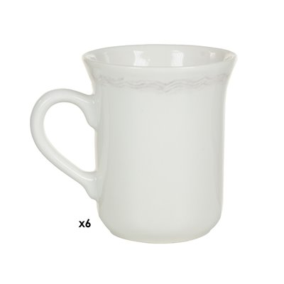 6er Set Tassen / Becher braun Provence