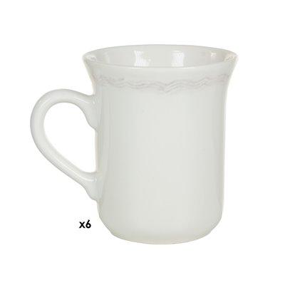 Conjunto de 6 tazas Provenza marrón
