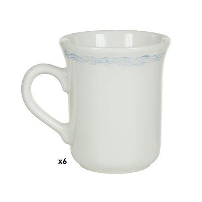 6 Tassen Provence blau