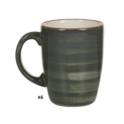Conjunto de 6 tazas Tuscany gris