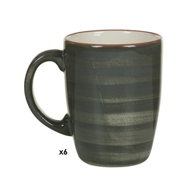 Set mit 6 Tassen Tuscany grau