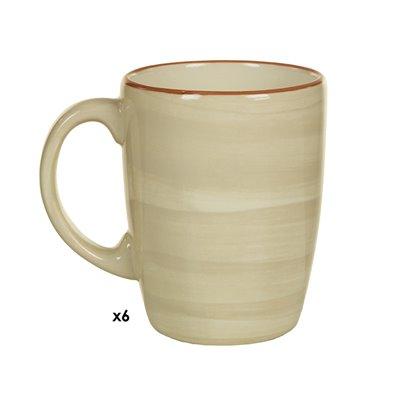 Set of 6 cups beige Tuscany