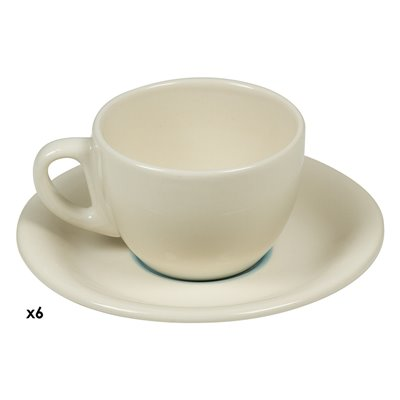 Conjunto de 6 tazas café Espiral azul